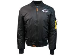 Бомбер Top Gun Official MA 1 WINGS bomber jacket with patches, чорний