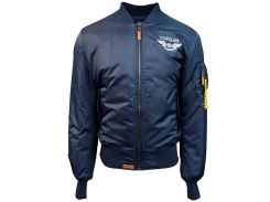 Бомбер Top Gun Official MA 1 WINGS bomber jacket with patches, синій
