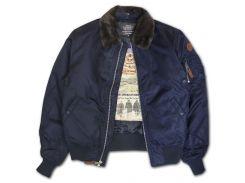 Бомбер Top Gun B 15 Men's Heavy Duty Vintage Flight Bomber Jacket, синій
