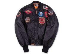 Бомбер Top Gun MA 1 Nylon Bomber Jacket with Patches, чорний