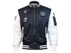 Бомбер Top Gun MA 1 Color Block Bomber Jacket, синьо білий, USA