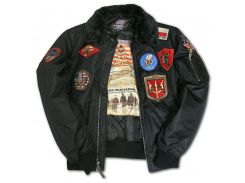 Бомбер Top Gun Official B 15 Flight Bomber Jacket with Patches, чорний, USA