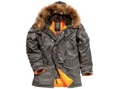 Куртка аляска Slim Fit N-3B Parka Alpha Industries, темно-сіра, USA