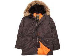 Куртка аляска Slim Fit N-3B Parka, темно-коричнева, USA