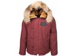 Пухова куртка аляска N-2B Elevon Alpha Industries, червона охра
