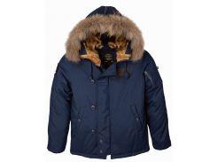 Пухова куртка аляска N-2B Elevon Alpha Industries, синя