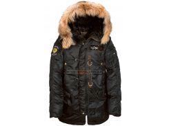 Куртка аляска Alpha Industries N-3B 55th Anniversary Parka, чорна