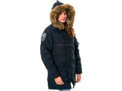 Зимова жіноча куртка аляска Altitude W Parka Alpha Industries, синя, USA