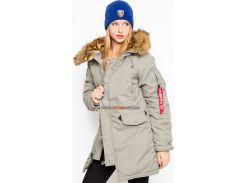 Зимова куртка аляска Altitude W Parka Alpha Industries, сіра, USA