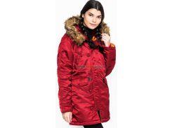 Зимова жіноча куртка аляска N-3B W Parka Alpha Industries, червона, USA