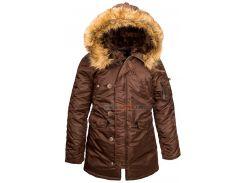 Зимова жіноча куртка аляска N-3B W Parka Alpha Industries, Cocoa, USA