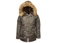 Зимова жіноча куртка аляска N-3B W Parka Alpha Industries, Repl.Grey, USA