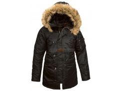 Зимова жіноча куртка аляска N-3B W Parka Alpha Industries, чорна, USA