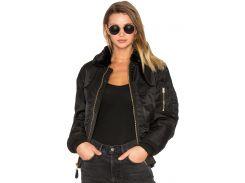 Жіноча куртка бомбер B-15 Slim Fit Alpha Industries, чорна