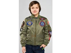 Boys MA-1 Jacket with Patches Alpha Industries, оливкова