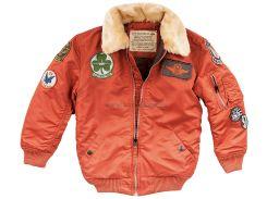 Boys Maverick Jacket Alpha Industries, rust