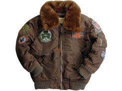 Дитяча куртка Boys Maverick Jacket Alpha Industries, Cocoa