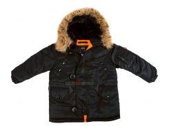 Дитяча куртка аляска Youth N-3B Parka, чорна