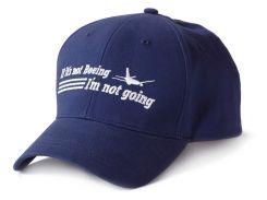 Бейсболка If It's Not Boeing, I'm Not Going, синя