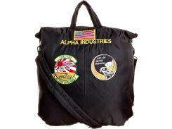 Сумка Alpha Industries Helmet Bag With Patches, чорна