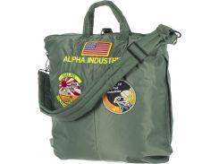 Сумка Alpha Industries Helmet Bag With Patches, оливкова