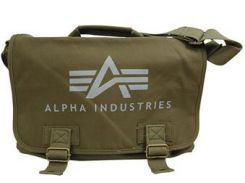 Сумка Alpha Industries Big A Canvas Courier Bag, оливкова