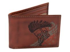 Шкіряний гаманець Top Gun Embroidered Sky Chief Leather Trifold Wallet