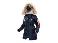 Оригинальная женская куртка аляска AIRBOSS N-3B Vega 17300783127 (синий металлик)