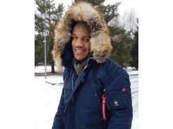 Зимняя куртка аляска Winter Parka Airboss 171000123221 (синяя). Оригинал!