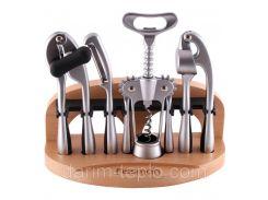 Набор аксессуаров Fissman ORTO (барсет) 5 предметов на деревянной подставке