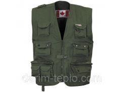 Канадский открытый жилет (M) тёмно-зелёный Fox Outdoor 04253B