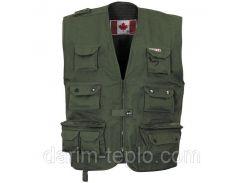 Канадский открытый жилет (S) тёмно-зелёный Fox Outdoor 04253B