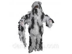 Костюм маскировочный XL/XXL Ghillie Suit снежный камуфляж MFH 07703L