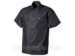 [Спец.ЦЕНА] Рубашка с коротким рукавом (M) американского типа, чёрная MFH 02712A