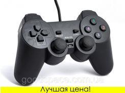 USB джойстик для ПК PC GamePad DualShock вибро