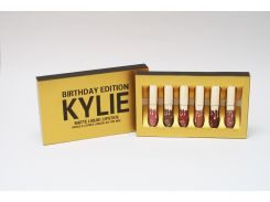 Набор жидких матовых помад Kylie Birthday Edition от Кайли Дженнер 6 штук (копия)