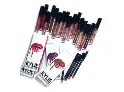 Жидкая матовая помада + карандаш для губ 2 в 1 Kylie (копия)