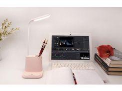 Podarki Подставка для канцелярии розовая с встроенной Led лампой Pink
