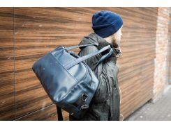 Мужская кожаная сумка mod.MG синяя