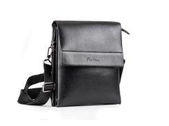 Кожаная мужская сумка FASHION чёрная