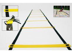 Кординационная лестница, скоростная дорожка (speed ladder, agility ladder)8 ступеней