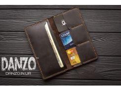 Мужское кожаное портмоне кошелек FortSmith коричневый