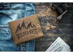 Мужской кожаный кошелек ТатуНаКоже, wilderness