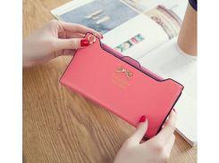 Кошелек клатч для женщин розовый
