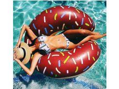 Надувной круг Пончик (Коричневый)