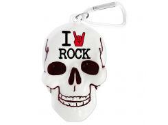 """Брелок для ключей в виде черепа """"I rock"""""""