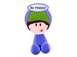 """Держатель для зубной щетки с надписью """"Be happy"""""""