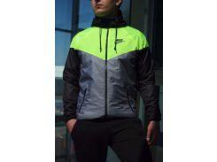 Ветровка мужская Nike серо-салатовый