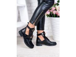 Ботинки BALENCIAGA черная кожа 6321-28
