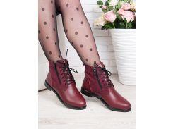 Ботинки Classic марсала замша + кожа 6361-28